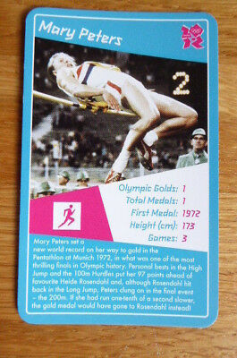 Mary Peters Atletics Top Trumps 2012 Olympics Card