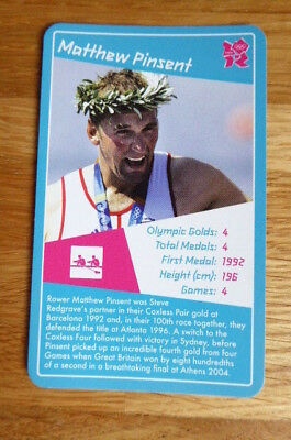 Matthew Pinsent Rowing Top Trumps 2012 Olympics Card