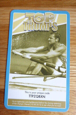 Steve Redgrave  Rowing Top Trumps 2012 Olympics Golden Card