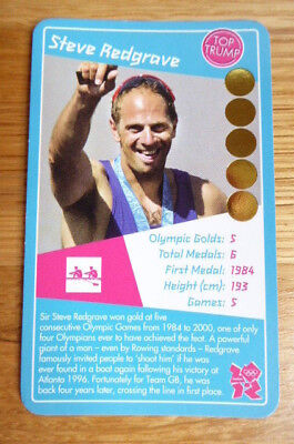Steve Redgrave  Rowing Top Trumps 2012 Olympics Card