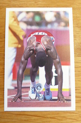 Carl Lewis Athletics Question Of Sport Card 1987  Mint