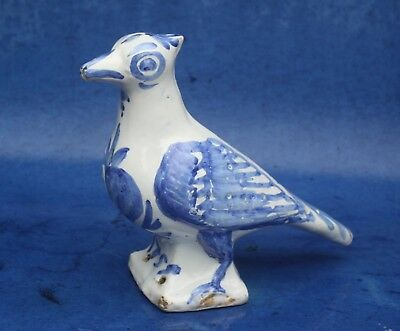 RARE & IMPORTAND DATED 1759 DELFT FIGURE OF A BIRD, NEVERS FRANCE English Dutch