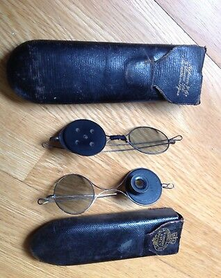 X2 Two Pairs Victorian Medical Optical Opticians Test Spectacles Glasses  1870