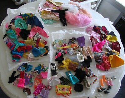 BIG LOT of Barbie Doll Clothes  & Like Barbie clothes in played with condition