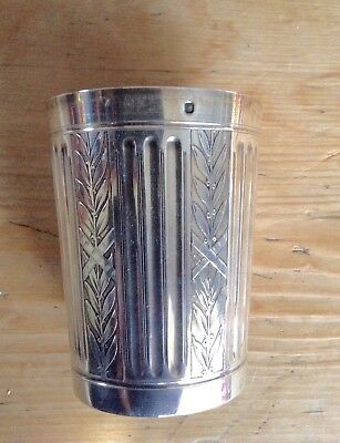 Finely Decorated Antique French Sterling Silver Tumbler Cup,