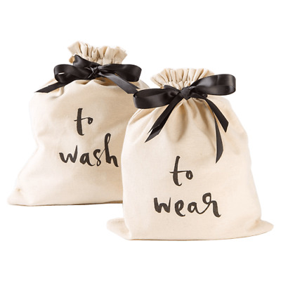 """Kate Spade Lingerie Bags, 2 Pack """"To Wash"""" """"To Wear"""" NWT"""