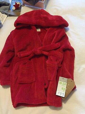 Red Baby Dressing Gown 18-24 Months New BNWT