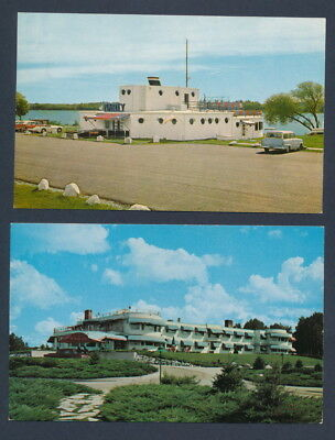 Lot of 2 Vintage 1950-1960s NORTHERNAIRE SHOW BOAT & HOTEL Three Lakes Wisconsin