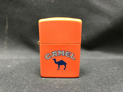 1990's Vintage Orange Camel Zippo Lighter