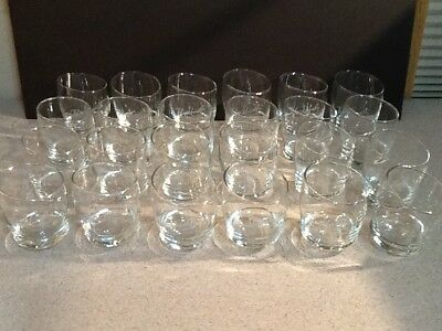 Lot of 24 Blackheart Spiced Rum Roly Poly Curved Bottom Bar Glasses ****NOTE****