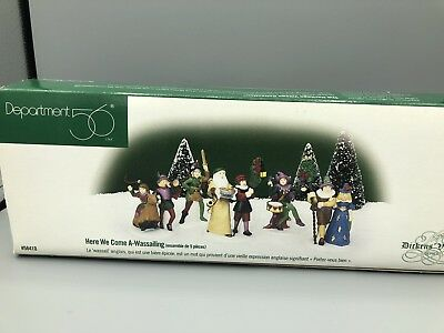 Department 56 Dickens' Christmas Village #58410 Here We Come A-Wassailing 5pcs