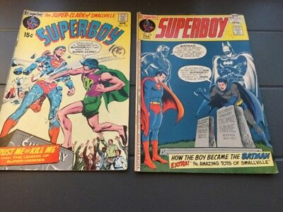 Superboy #173.182.  Bronze Age DC Comics
