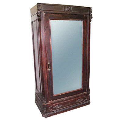 1750 Louis XVI Early 18th C Antique Armoire Wardrobe Cabinet Chest Victorian