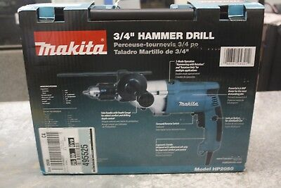 "BRAND NEW Makita 3/4"" Variable 2 Speed Corded Hammer Drill & Case 
