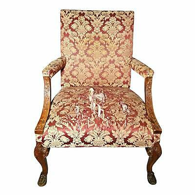 Rare Antique Carved Armchair Arm Chair Settee Sofa Loveseat Bench Vintage