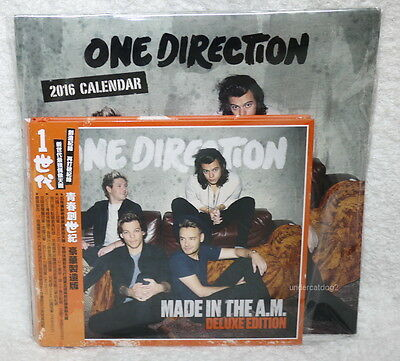 One Direction Made In The A.M. Deluxe Edition Taiwan Ltd CD w/OBI +Calendar