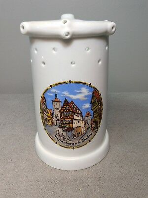 Gerz German Puzzle Beer Stein with Holes & Lithophane Woman