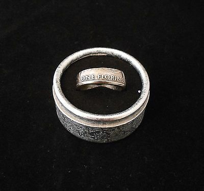 Coin Ring Florin 1961 New Zealand Size 12.5 (Z)  Made in Australia