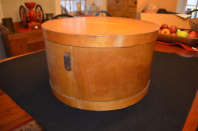Antique Bentwood Wooden Hat Box (Like a Huge Pantry Box)