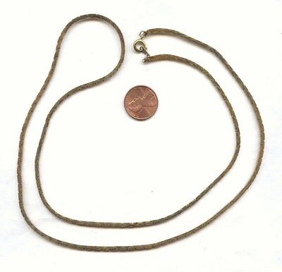 """VINTAGE SOLID BRASS 2mm. WIDE COBRA CHAIN 30"""" NECKLACE CH125"""