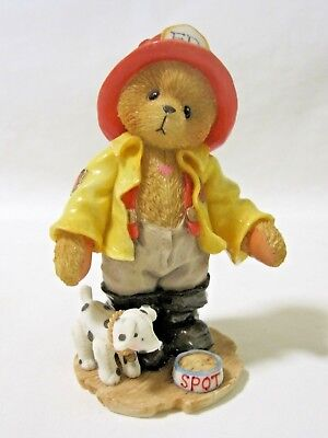 Cherished Teddies KURTIS D CLAW Fireman and Dog Member Bear Figurine CT961 IOB