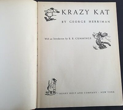 Krazy Kat, George Herriman, Book Collection from Holt & Co 1946