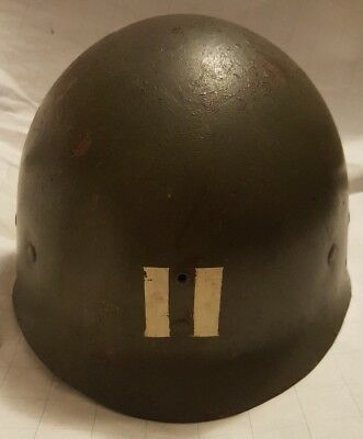 Original WW2 US Army Marine Corps Military Westinghouse M1 Helmet Liner Captain?