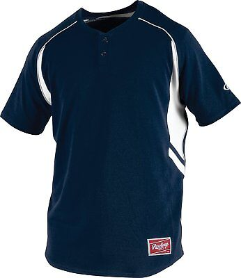 Rawlings 2 Button ROAD Jersey - NAVY  Youth / Adult