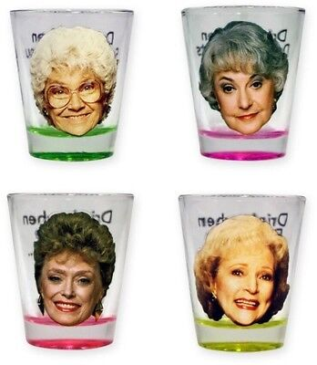 Golden Girls 4 Pk Shot Glass Set