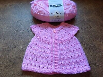 Hand Knitted Cap Sleeve Cardigan for 0-3 months - Brand New  - Pink