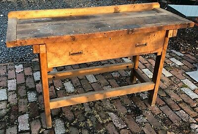 Vintage Cabinet Makers Carpenter's Workbench Potting Shed Table- Nice Size