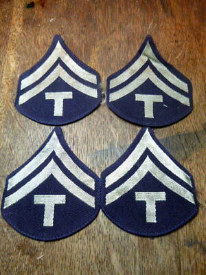 A Lot of 4 WW 2 U S Army  Corporal 5th Grade  Rayon Chevron Patches