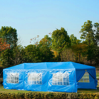 10x30ft Party Wedding Tent Gazebo Shelter Portable Outdoor Event Blue
