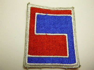 A     WW 2 U S Army 69th  Division O D Backing Cut Edge Snow Back Patch