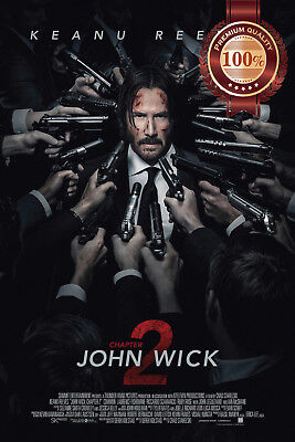 New John Wick Chapter 2 Two Official Movie Original Cinema Print Premium Poster