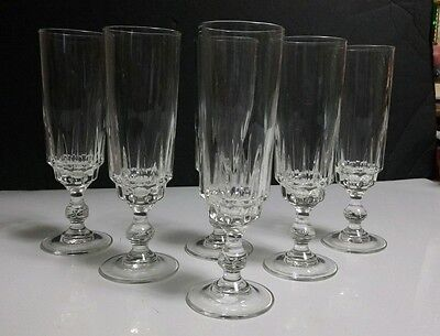 "Cris D' Arques Luminarc France 6.5"" Fluted Champagne Glasses CRA33 - Set of 6"