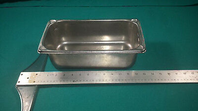 "Lot of 6 Vollrath Steam Table Super Pan II 1/3 Size 4"" Deep 18-8 stainless steel"