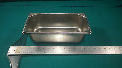 "Lot of 6 Vollrath Steam Table Super Pan V 1/3 Size 4"" Deep 18-8 stainless steel"