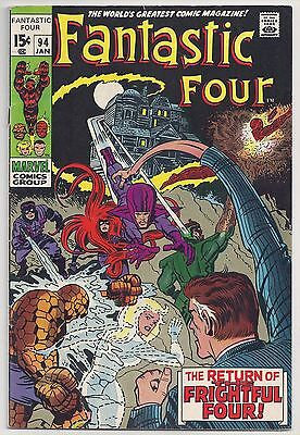 """Fantastic Four #94  STRONG 5.0 !! """" First appearance of Agatha Harkness"""""""