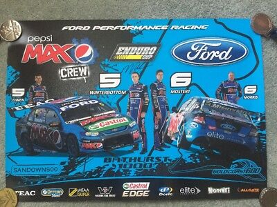 Ford Performance Racing - Signed Poster - Mark Winterbottom - V8 Supercars Pepsi