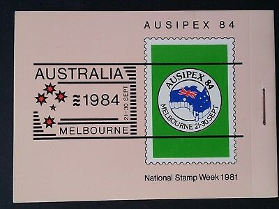1984- Australia Booklet for Ausipex National Stamp Week with O/P Cinderella