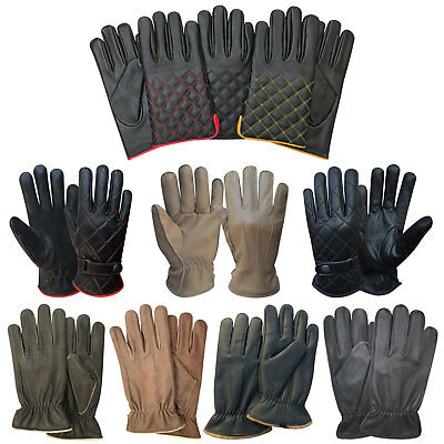 Mens Real Leather Winter Fashion Dressing Driving Slim Fit Style Classic Gloves