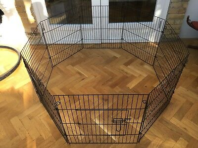Pet Play Pen - Puppy, Small Dog, Cat, Guinea Pig, Rabbit - Easy Set-Up