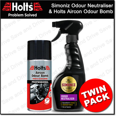 Car Air Con Bomb Air Conditioning Cleaner & Simoniz Odour Neutraliser Pack