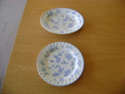 Bhs Bristol Blue   Side Plate And Small Oval Plate