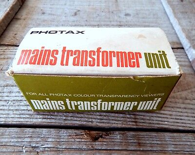 Vintage Photox Transparent Photo Slide Viewer Mains Power Transformer Plug