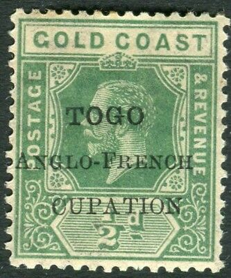 TOGO-1915 ½d Green CUPATION FOR OCCUPATION VARIETY Sg H34e MOUNTED MINT  V22131