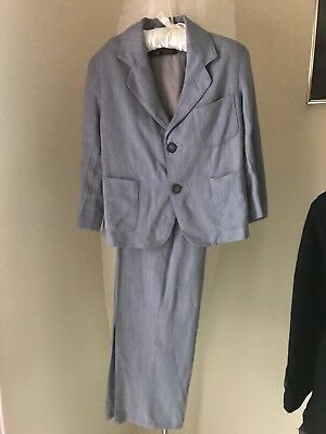 Vintage 40S Boys Suit Master built Fifth Ave 4