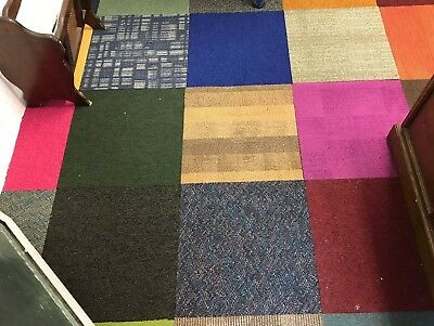 2000 Available Brand New Mixed Colour Carpet Tiles - Patchwork Flooring