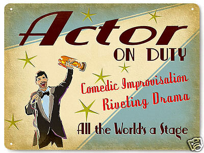 HOLLYWOOD ACTOR metal sign ON DUTY MOVIE FILMS great gift vintage style art 257